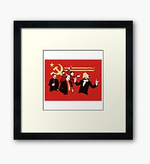 communist party t shirts amd cards  Framed Print