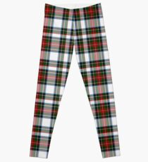 Clan Stewart Dress Tartan Plaid Pattern Leggings