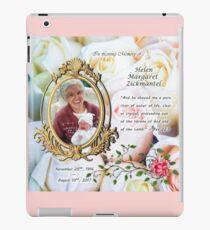 Helen Margaret Zickmantel ~ Memorial Plaque iPad Case/Skin
