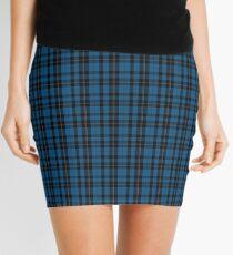 Blue Clan Ramsay Hunting Tartan Plaid Pattern Mini Skirt