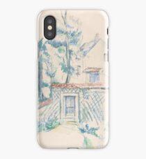 Paul Cézanne - Entrance to the Garden (1870s) iPhone Case/Skin