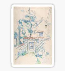 Paul Cézanne - Entrance to the Garden (1870s) Sticker