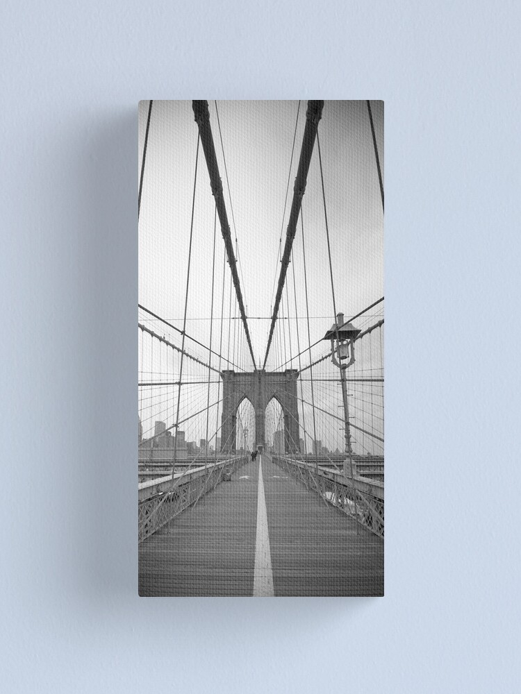 Alternate view of Brooklyn Bridge over East River. New York City. Canvas Print