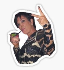Kris Jenner Peace Sign Sticker