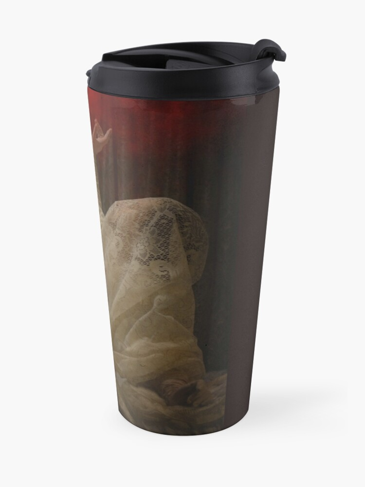 Alternate view of The Queen Lay Dying Of Her Own Will Travel Mug