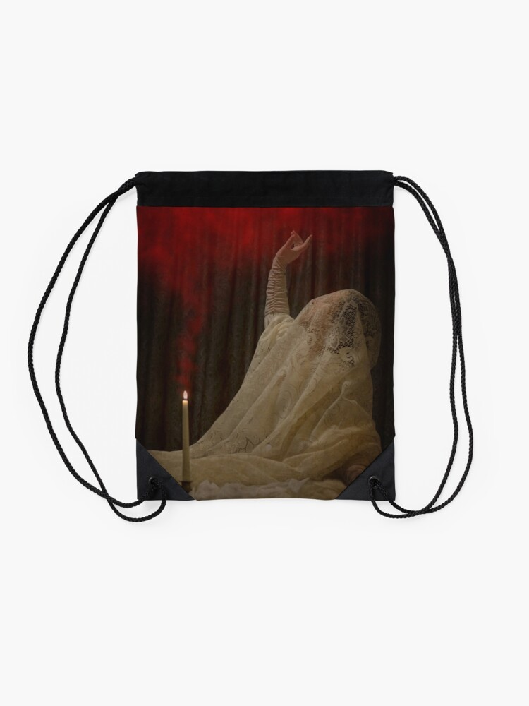 Alternate view of The Queen Lay Dying Of Her Own Will Drawstring Bag