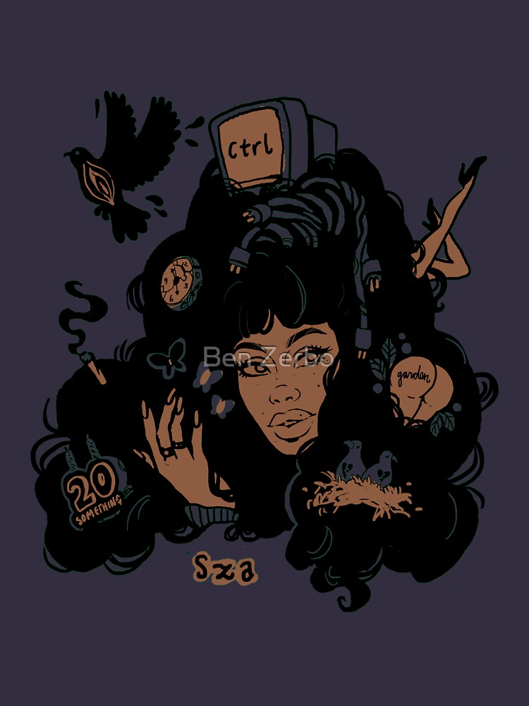 Sza Ctrl Alternate Album Art by bzerboart