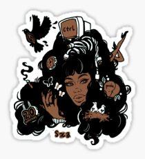 Sza Ctrl Alternative Album Art Sticker