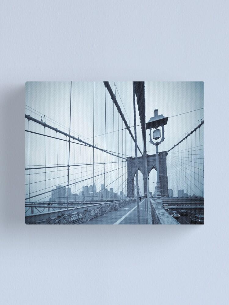 Alternate view of Brooklyn Bridge over East River. New York City. Canvas Print