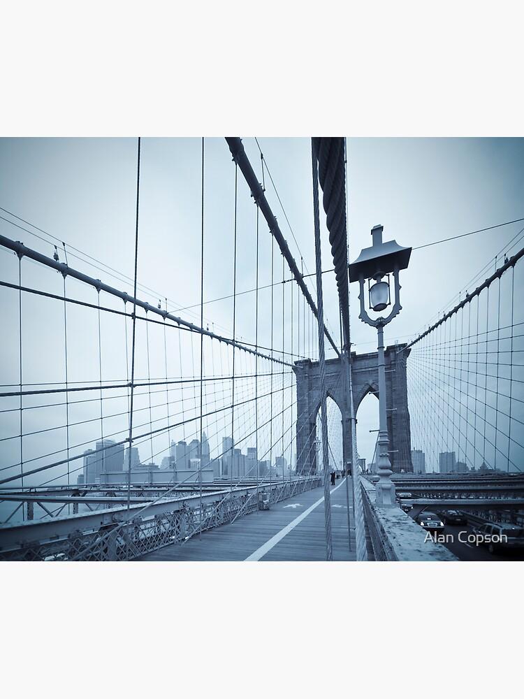 Brooklyn Bridge over East River. New York City. by AlanCopson