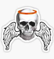 Angel Skull Sticker