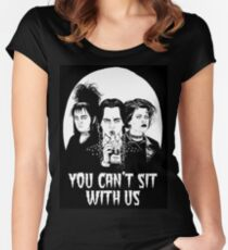 You can't sit with us. Women's Fitted Scoop T-Shirt