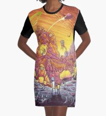 Rick and Morty artwork Graphic T-Shirt Dress