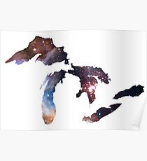Great Lakes In Space  Poster