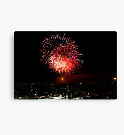 Australia Day fireworks Canvas Print