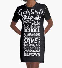 Girly Stuff Graphic T-Shirt Dress