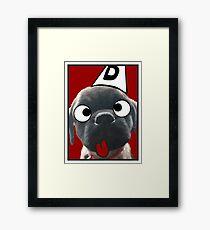 Goofy Pug Framed Print