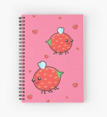 Strawbee Summer (pink) Spiral Notebook