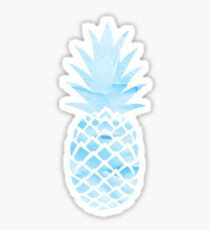 Light Blue Pineapple Sticker Sticker