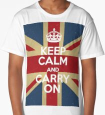 Keep Calm And Carry On Long T-Shirt