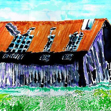Tattered Prairie Barn by sethweaver