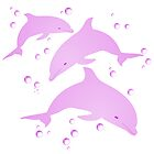 Pink Dolphins by DolphinPod