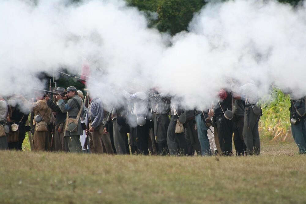 The Rebels Firing Their  Guns by declown