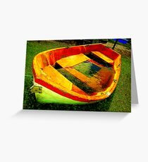 Boat Of The Past Greeting Card