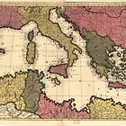Map of the Mediterranean Sea (1695) by allhistory