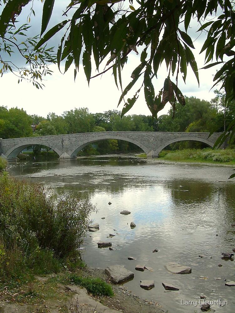 The Old Mill Bridge... by Larry Llewellyn