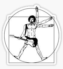 The Vitruvian Hendrix Sticker