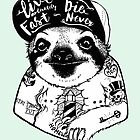 Sloth Tattooed by PaperTigressArt