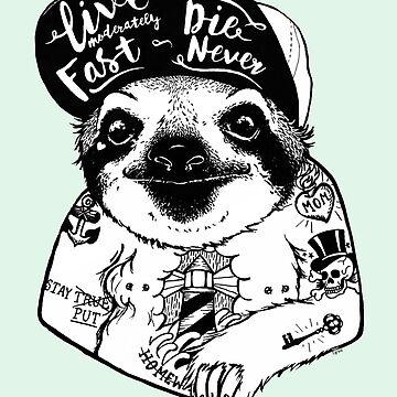 Pereza tatuada de PaperTigressArt