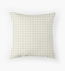 Cream Houndstooth Abstract Throw Pillow