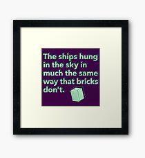 Die Schiffe hingen im Himmel auf die gleiche Weise wie Ziegel nicht Gerahmtes Wandbild