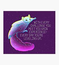 """Lámina fotográfica """"Todos los días estás nivelando"""" Flying Squirrel Space"""
