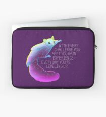 """Every Day You're Leveling Up"" Flying Space Squirrel Laptop Sleeve"