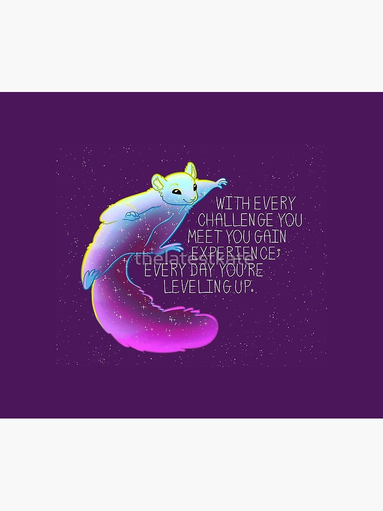 """Every Day You're Leveling Up"" Flying Space Squirrel by thelatestkate"