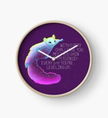 """Every Day You're Leveling Up"" Flying Space Squirrel Clock"