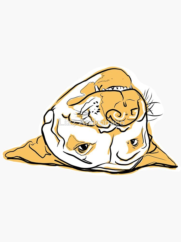 Upside Down Pit Bull by lizzandronaco