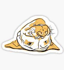 Upside Down Pit Bull Sticker