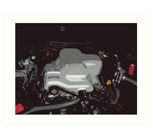 Holden VY Commodore Engine Art Print