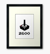 2600 RETRO VIDEO GAMER Framed Print