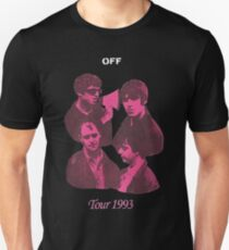 Off White Fan Art band Tee Tour 1993 T-Shirt