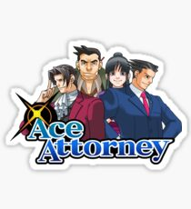 OG Ace Attorney Squad Sticker