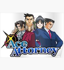 OG Ace Attorney Squad Poster