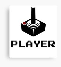 PLAYER RETRO VIDEO GAMER Canvas Print