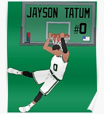 Jayson Tatum Dunk Poster