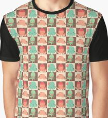 Cute Silly Octopus Pattern Graphic T-Shirt
