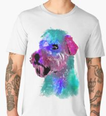 wheaten terrier watercolor pet portrait | Harry Men's Premium T-Shirt